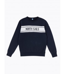 NORTH SAILS SUDADERA ROUDN NECK W/GRAPHIC