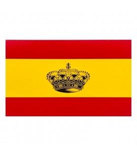 ADHESIVO BANDERA DE ESPAÑA CON CORONA