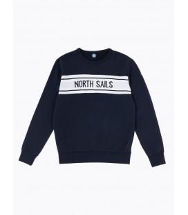 NORTH SAILS SUDADERA ROUDN NECK W/GRAPHIC